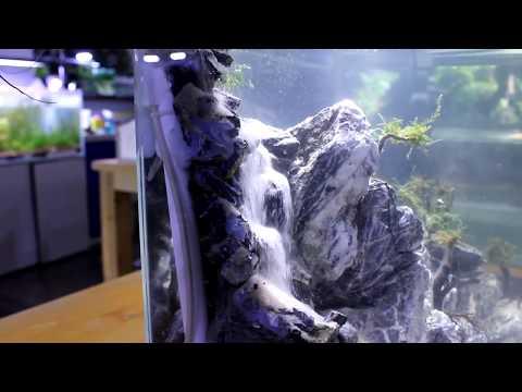 Пескопад. Имитация водопада в аквариуме.