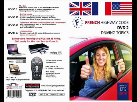 New french highway code DVD2 2016 Driving topics