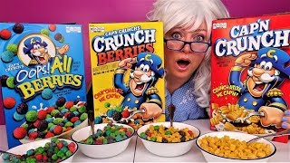Cap N Crunch Cereal Oops All Berries Cereal Crunch Berries Cereal Granny Eats Youtube Instead of the same size berries as you would typically find in a box of cap'n crunch crunch berries, the snack packs include only the berry cereal, but at three times its normal size to top it all off, we also know that each pouch of cap'n crunch oops! cap n crunch cereal oops all berries