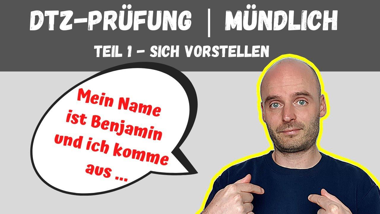 DTZ  Mündliche Prüfung Teil 1 | A2 B1 | Learn German | Deutsch lernen