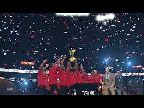 NBA 2K18 - Houston Rockets Championship Celebration