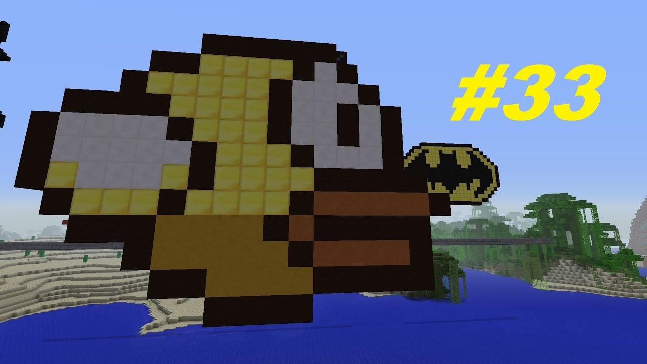 Minecraft Pixel Art Projekt Wir Bauen Flappy YouTube - Minecraft nutzliche spielerkopfe
