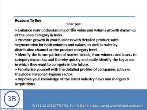 Bharat Book Presents : Soap Market in India to 2017