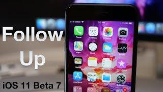 iOS 11 Beta 7 - A Few Days Later
