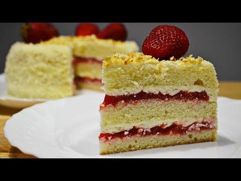 КЛУБНИЧНЫЙ ТОРТ |  Очень Вкусный!  | Strawberry cake