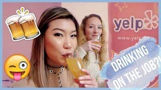 WORKING AT YELP! | vlogmas day 1 ♡