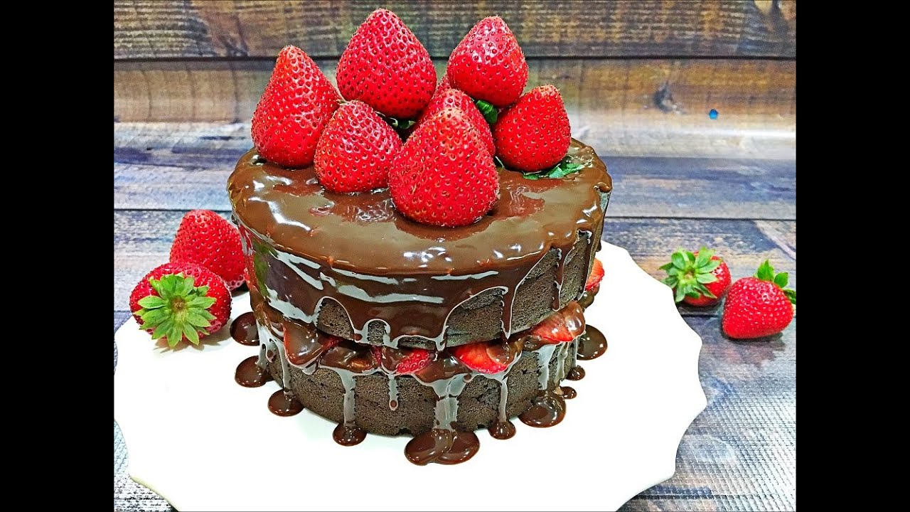 Cake recipes with strawberries and chocolate