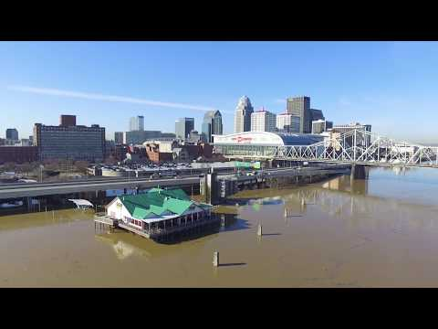 Downtown Louisville Kentucky 2018 flood