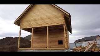 видео Строительство домов и бань из бруса