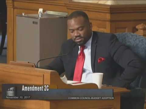 Alderman Russell Stamper Addresses Common Council on Disparity Study