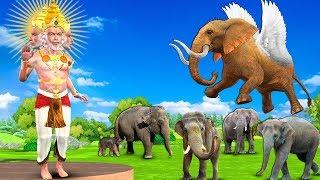 Flying Elephant Hindi Kahaniya   Moral Stories for Kids   Cartoon For Children   Panchtantra Stories