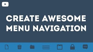Create Awesome Menu Navigation With Toggle Using Only HTML & CSS & JQuery