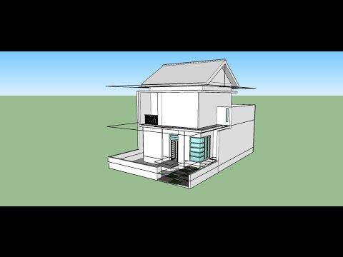 SketchUp Modeling Tutorial   Rumah 2 lantai part 2  pintu dan Jendela