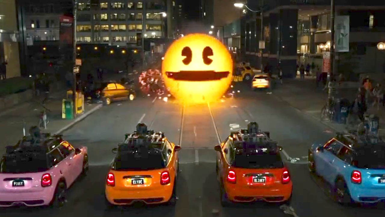 Meet Pac Man Pixels Movie Clip Youtube