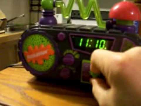 Nickelodeon timeblaster clock radio.