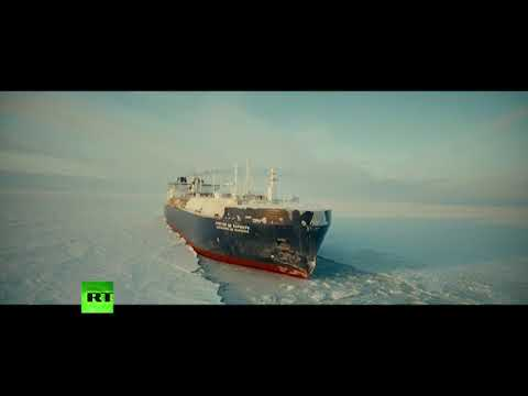 VMM MARINES (SOVCOMFLOT) - ICE BREAKER LNG CHRITOPHE DE MARGERIE PASSING NORTH POLE