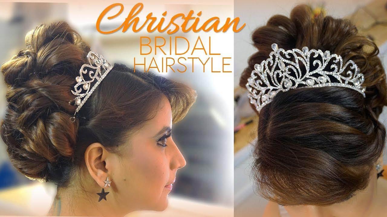christain bridal hair style | latest catholic wedding bride trending