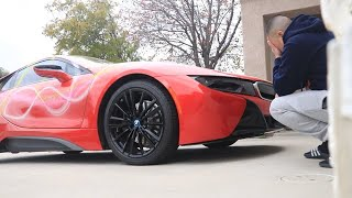 SPRAY PAINTED HIS BMW i8! | HE IS SO PISSED!
