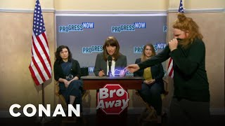 Protect Yourself From Mic-Stealing Bros With Bro Away Spray - CONAN on TBS