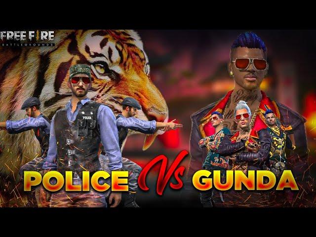 POLICE VS GUNDA || THE BIGGEST MAFIA || FREE FIRE SHORT ACTION FILM || RISHI GAMING || Ps 5 GIVEAWAY