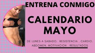 CALENDARIO MES MAYO/ Plan de entrenamiento completo/ Fitness by Vivi