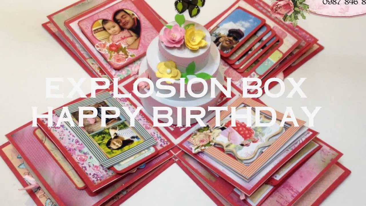 how to make a birthday explosion box