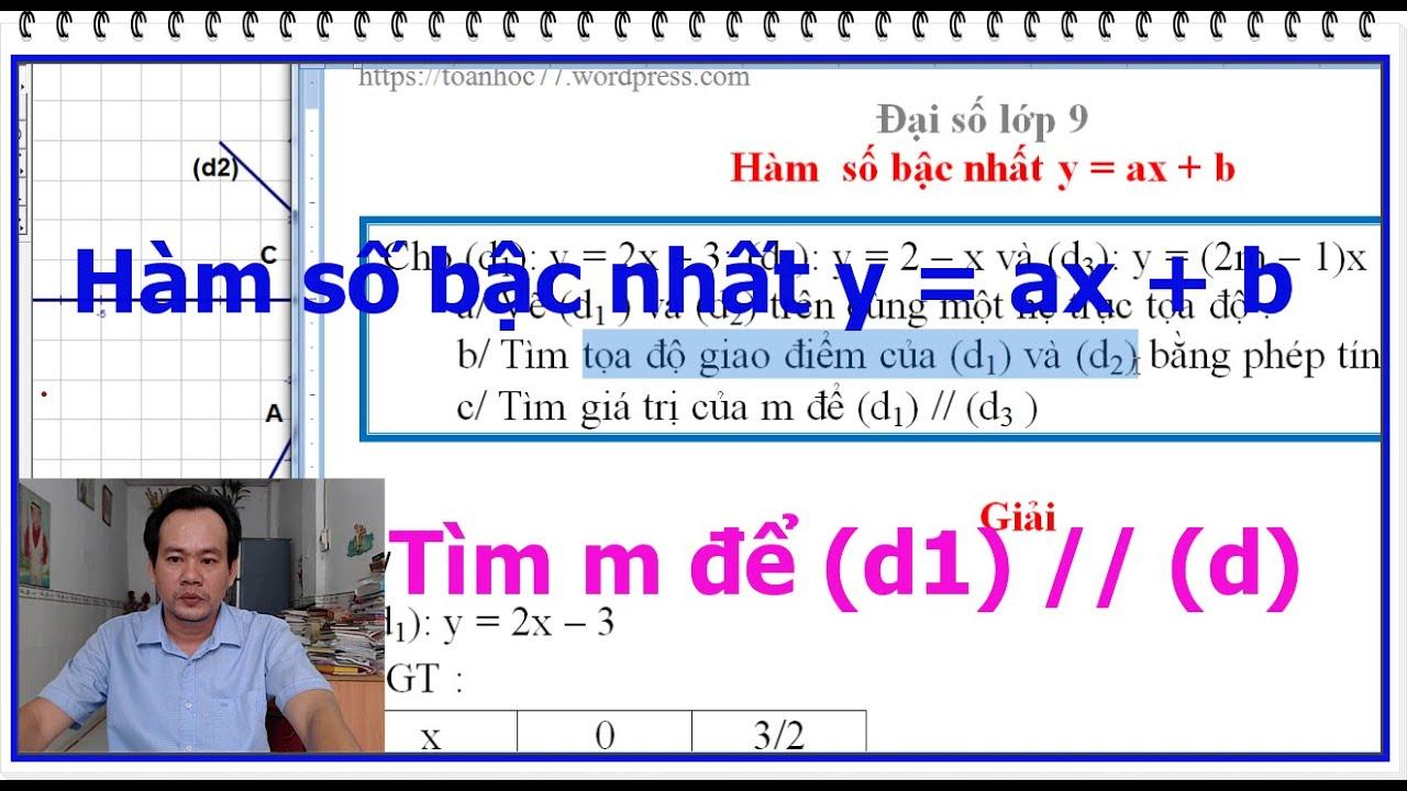 Tìm m để đồ thị hai hàm số bậc nhất song song nhau – vẽ hai đồ thị trên cùng một hệ trục tọa độ