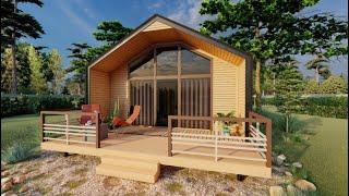 13평 소형주택-북유럽목조주택 목조조립식주택, 소형주택…