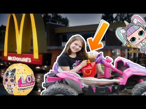 LOL Surprise Wave 2 Confetti Pop Happy Meal at Mcdonalds Drive Thru