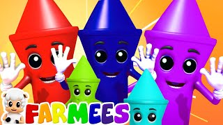 мелки цвета песня   детские песни   обучающие   Farmees Russia   развивающий мультфильм