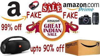 Amazon Big Billion Fake Sale 99% Discount | Amazon Great Indian Sale 99% off