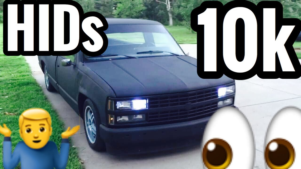 Silverado 89 chevy silverado 1500 : Silverado HID 10K Headlights - 1988-1996 - YouTube