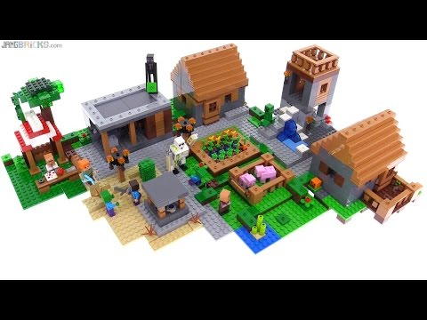 LEGO Minecraft The Village set review! 21128 - YouTube