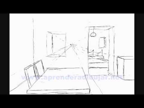 How to draw the inside of a house step by step things to draw youtube for Dessin chambre perspective