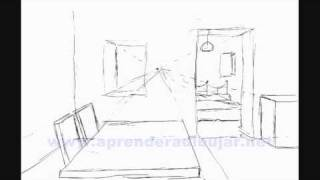 How to draw the inside of a house step by step - Things to draw