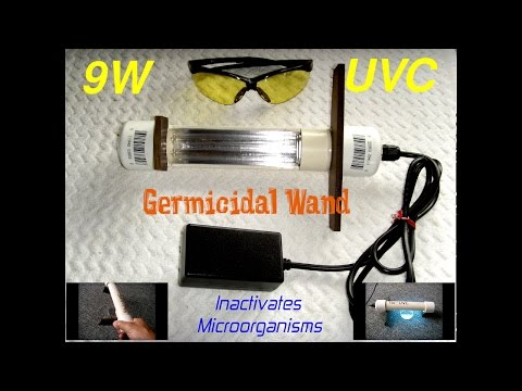 9 Watt Homemade UVC Germicidal Wand
