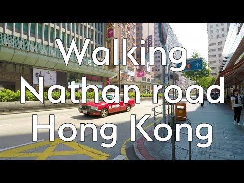 Walking Nathan Road, Hong Kong