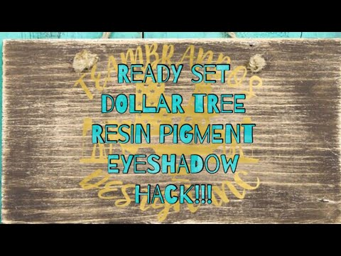 Eyeshadow for Resin Pigment DOLLAR TREE HACK!!