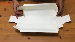Cách gấp Bộ túi và hộp đựng bánh dứa Thank you màu xanh 27.5x7x5cm