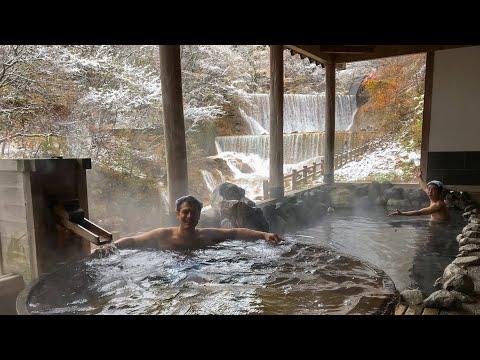 Snowy Bathing Experience | Tsuchiyu Onsen