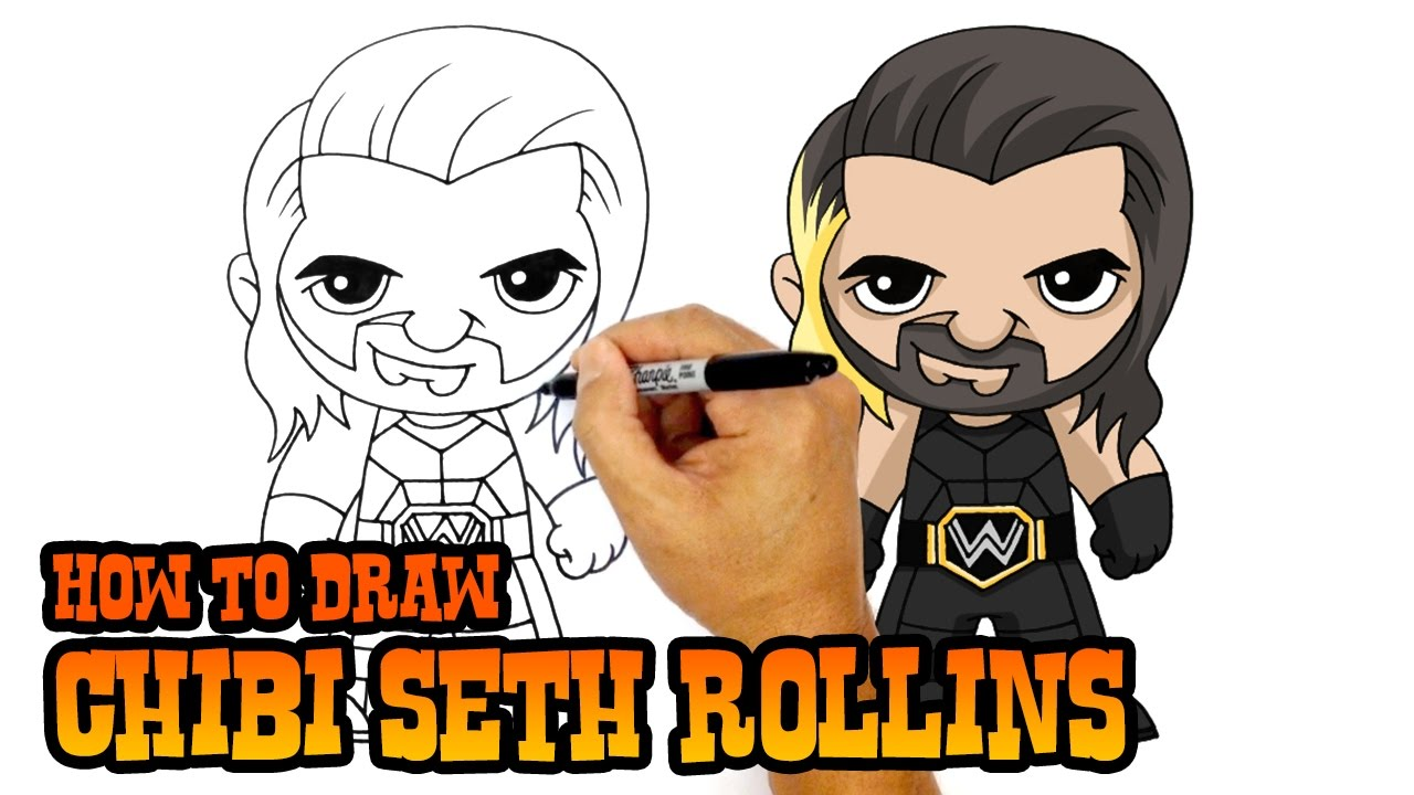 How To Draw Seth Rollins Wwe Superstars Youtube
