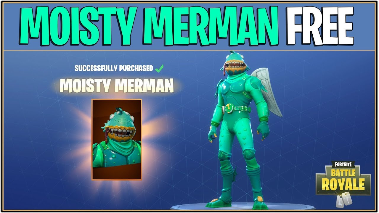 New Fortnite How To Get Moisty Merman For Free Fortnite Battle Royale Giveaway