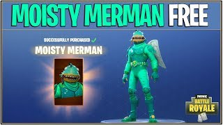 *NEW* Fortnite: HOW TO GET MOISTY MERMAN FOR FREE! | (Fortnite Battle Royale Giveaway)
