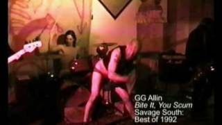 "GG Allin & The Murder Junkies - ""Bite It, You Scum"" (Live - 1992) MVDvisual"
