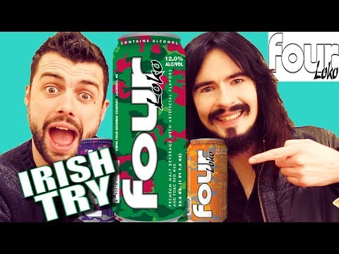 Irish People Taste Test 'FOUR LOKO' For The First Time!!