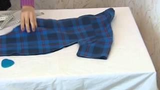 Комбинезон из рубашки - Домашнее ателье(Из этого видео Вы узнаете как из старой папиной рубашки можно сшить слип (распашонку), он же комбинезон для..., 2016-01-18T13:36:09.000Z)
