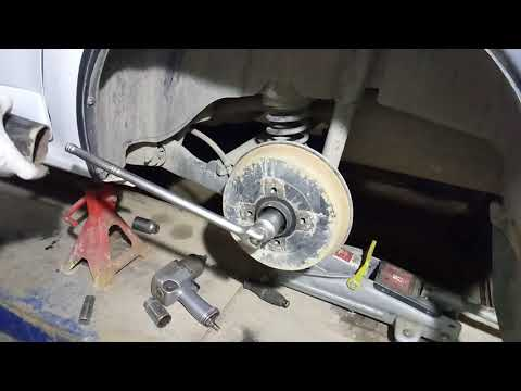 Логан, Сандеро: замена подшипника ступицы заднего колеса