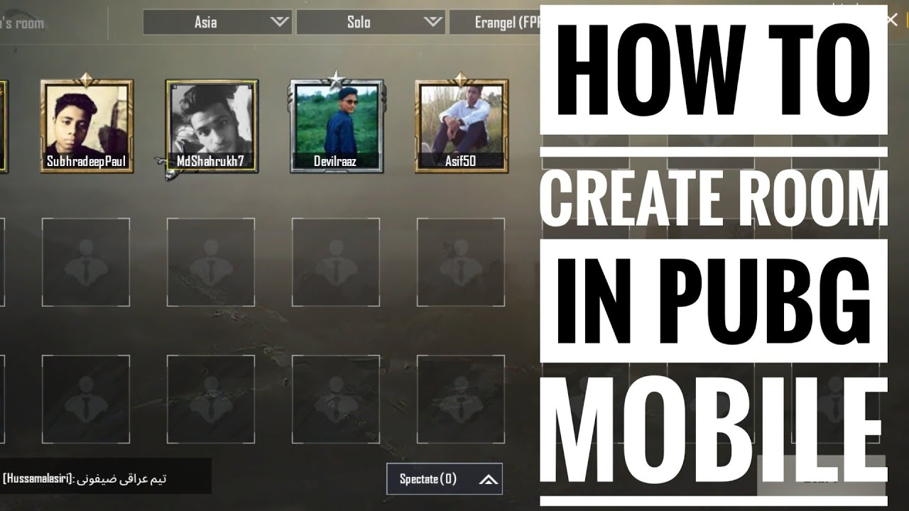 How To Create Custom Room In Pubg Mobile/use Room Card