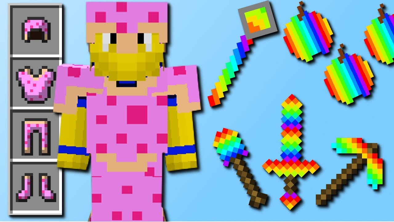 Regenbogen Rüstung! (100.003 Schaden, Diamant-Regen) Mod Vorstellung