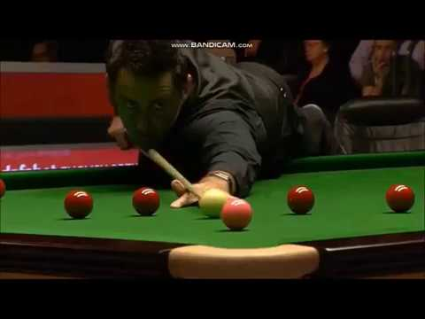Ronnie O Sullivan vs Mark Davis - Amazing play - Terrible Commentary
